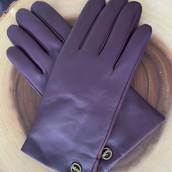 Leather Coach Gloves